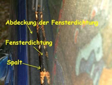 Auto fenstergummi reinigen