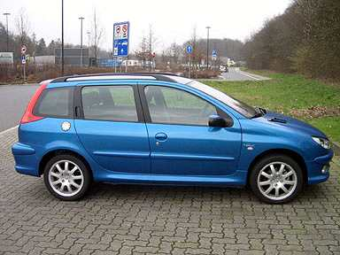 monatsbericht februar 2004 langzeittest peugeot 206 sw tendance hdi 90. Black Bedroom Furniture Sets. Home Design Ideas